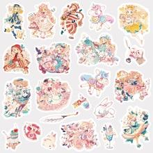 Прекрасная девушка пуля журнал декоративные наклейки из бумаги васи Скрапбукинг палочка этикетка канцелярские наклейки для дневника, альбома