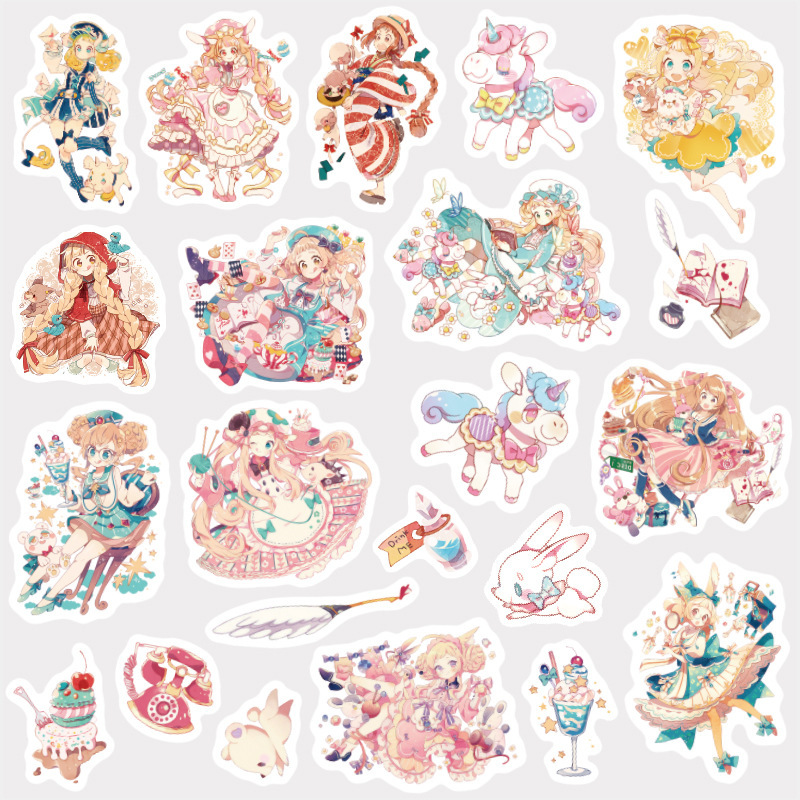 Lovely Girl Bullet Journal Decorative Washi Stickers Scrapbooking Stick Label Diary Stationery Album Stickers