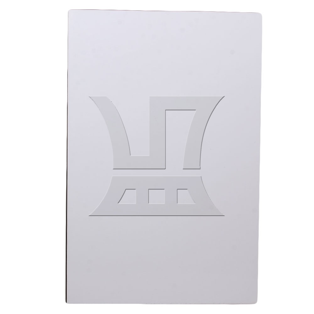 Yibuy 3ply Blank White 29cmx43cm Guitar Bass Scratch Plate Sheets