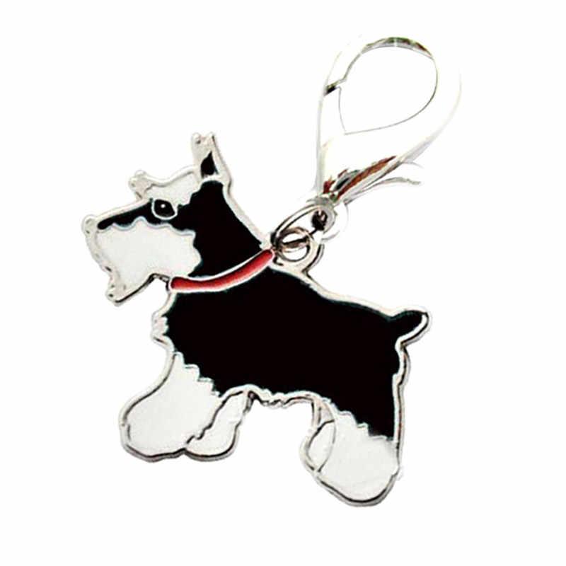 2020 뜨거운 판매 애완 동물 목걸이 블랙 슈나우저 태그 디스크 디스크 애완 동물 ID 에나멜 액세서리 칼라 고양이 개 목걸이 펜던트 D38JL20