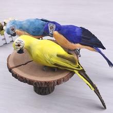 Ультра легкий попугаев с настоящими перьями/Bendable ноги сад моделирования реквизит птица Творческий ультра легкий вес 25/35 см