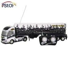 RC автомобилей 6-канальный Long hauler автомобиля Дистанционное управление нефтяного танкера авто-Съемная tankerc 10 резиновая Покрышки грузовик