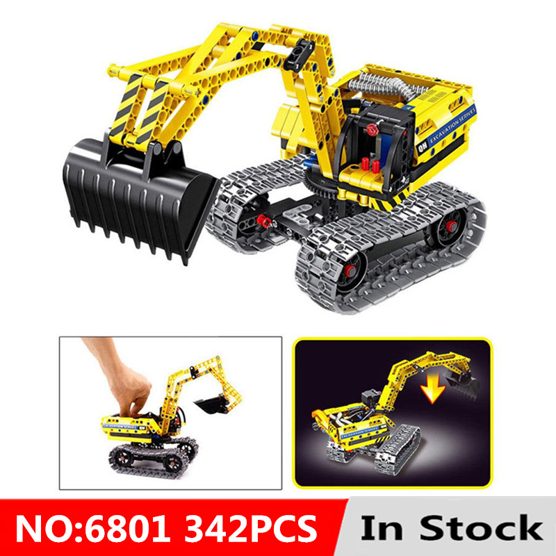 2in1 Technic City Excavator Model Building Blocks Brick Set Compatible With L Brand Kids Without Motors Toys for children Gift