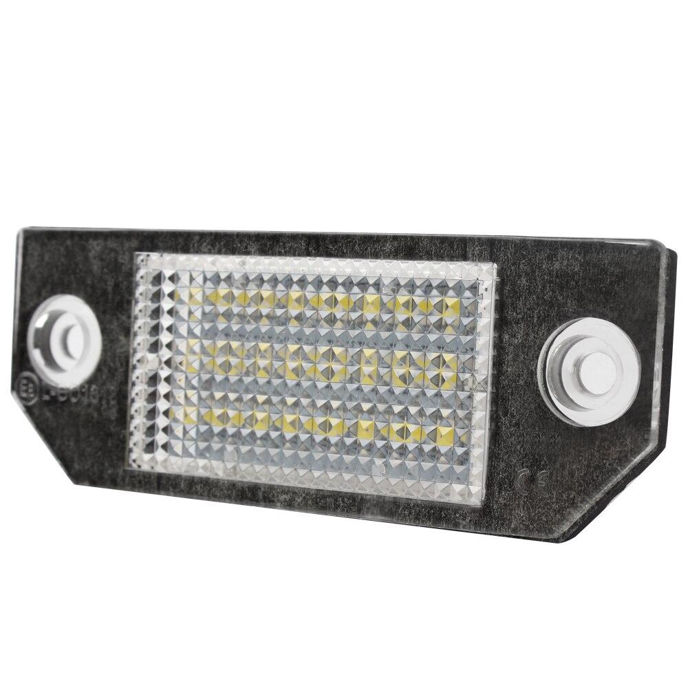 2 pcs LED Feux de Plaque D'immatriculation Super Lumineux 5 W de Plaque D'immatriculation lampes pour Ford Focus 2 3 C-MAX MK2 Voiture-Styling Lumière Source