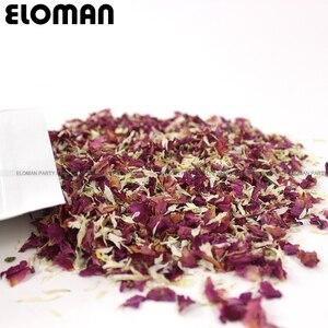 Image 2 - 100% טבעי חתונה קונפטי ELOMAN מיובש רוז פרח עלי כותרת קונפטי חתונה ומסיבת יום הולדת קישוט מתכלה 1L