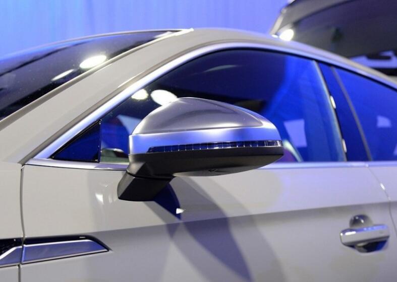 2 pièces rétroviseur latéral argent Chrome mat couvercle de remplacement pour 2016 2017 Audi A4 8 W A5 rétroviseur coque de couverture