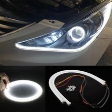 Encell Encell LED Strips 12V COB Light Car Styling LEDs for Car Universal LED Lights 30/60/80 CM LED Daytime Running Lights