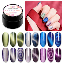 Magnetic 5D Cat Eye Nail Gel Holographic Magic Starry Sky Jade Effect UV Varnish 5ml Soak Off Art Lacquer