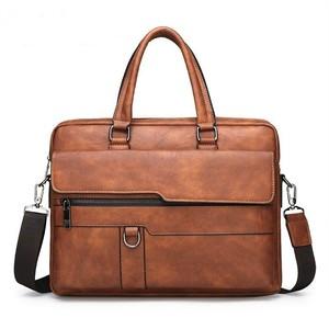 Image 2 - Maletín de negocios para Hombre, Bolsa de cuero, bolsas de mensajero de hombro, de trabajo, para portátil de 14 pulgadas, Masculina