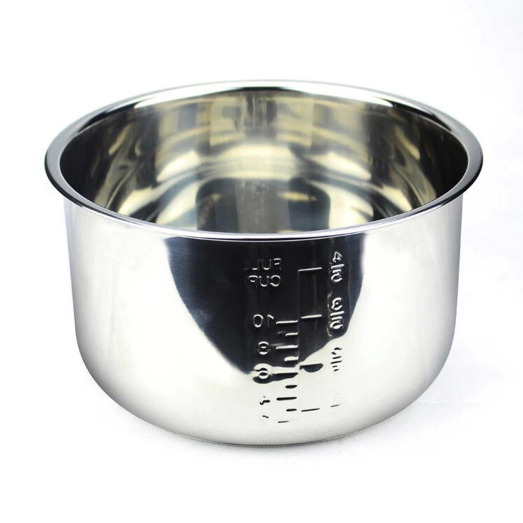 SUS Stainless Steel 304 Rice Cooker Inner Tank Rice Cooker Pot Metal Bowl