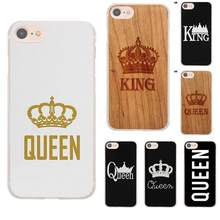 Perciron King Queen 01 Brand Couple For Apple iPhone 4 4S 5 5C SE 6 6S 7 8 Plus X For LG G3 G4 G5 G6 K4 K7 K8 K10 V10 V20(China)