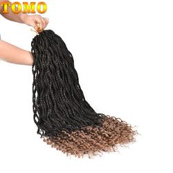 TOMO 24 пряди коробка косы вязаный крючком ные волосы 18 вязаный крючком Твист косы наращивание волос Длинные Омбре Синтетические плетение