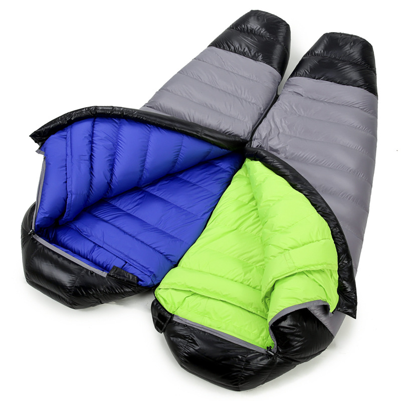 Ultralight Down Sport Hiking Sleeping Bags Outdoor Winter Camping White Goose Down Adult Mummy Waterproof Sleeping Bags 3 Color Sports & Entertainment Camping & Hiking