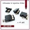 Melhor Preço!! Injeção de Peças Da Impressora 3D Ultimaker 2 UM2 DIY Original Slider Com Luva de Cobre 4 pçs/lote
