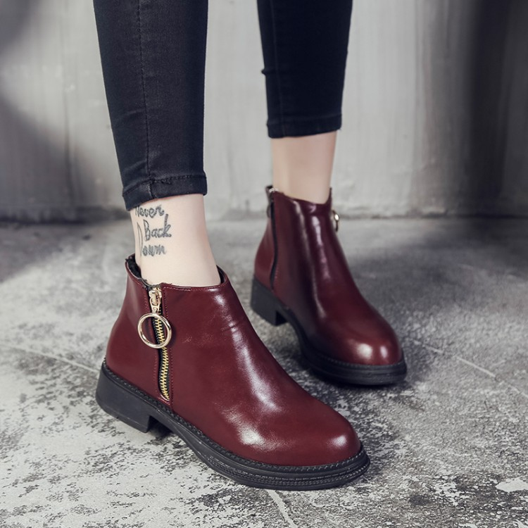 New 2018 Women Fashion Vintage Ankle Boots Soft Leather Shoes Female Spring Autumn Short Boots Comfortable Women Shoes