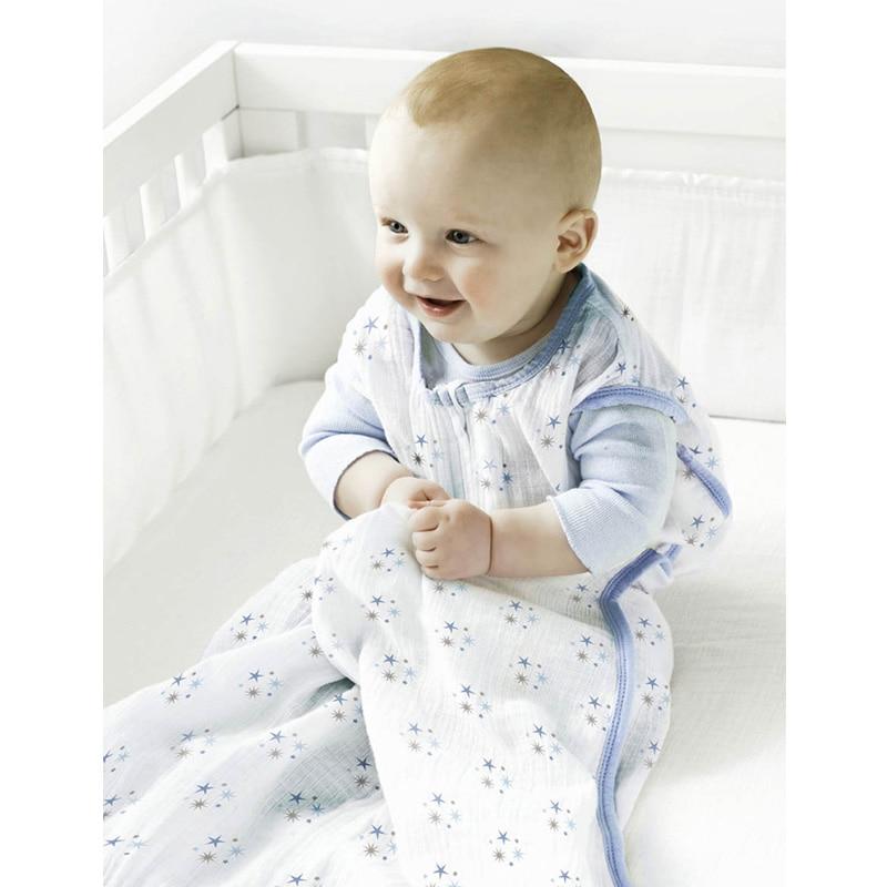 Baby Sleeping Bags 100% Muslin Cotton Aden Anais Thin Sleeping Bag For Summer Bedding Baby Bebe Sacks Sleepsacks 12-18Months