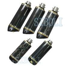 Tubo de Escape Universal para motocicleta, tubo de Escape de fibra de carbono de aleación de aluminio CNC, dos hermanos para cafe racer KTM