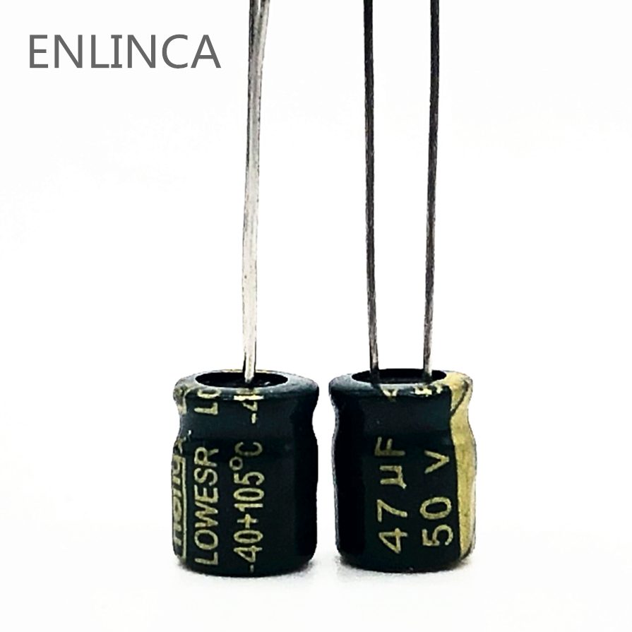 20pcs/lot Q02 High Frequency Low Impedance 50v 47UF Aluminum Electrolytic Capacitor Size 6*7 47UF 20%