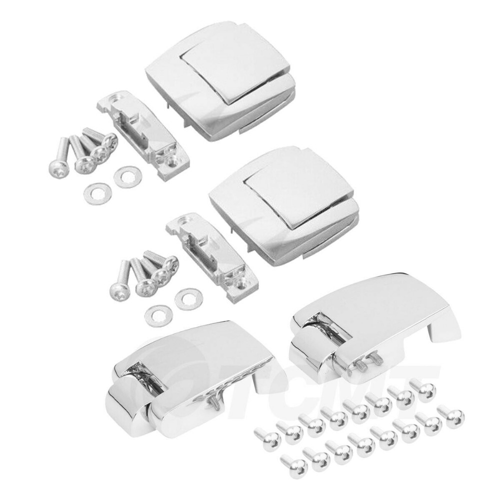 Motorcycle Razor Chopped King Tour Pak Trunk Latches Hinges For Harley Touring Road Electra Street Glide Trike Model 1988-2013