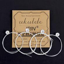 IRIN U105 Ukulele Strings 4pcs/set White Nylon Replacement Part For 21 23 26 Inch Stringed Instrument  Ukulele Strings цена