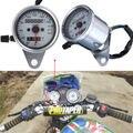 Universal Motorcycle Dual Odometer Speedometer Gauge Test Miles Speed meter LED Backlight 3 Indicators Free shipping