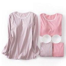 Купить с кэшбэком Maternity Pajamas Nursing Nightgown Autumn Cotton Lace Collar Underwear Side Open Breastfeeding Home Suit Pregnancy Clothes A312