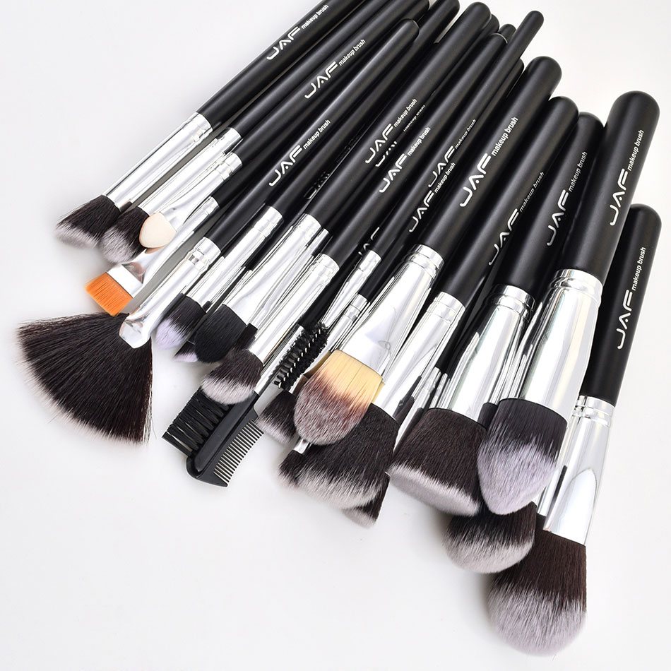 Image 2 - JAF 24pcs Makeup Brushes Tools 100% Vegan Make Up Artist Kit Brushes for Makeup Professional Brush Set #J2425YC B-in Eye Shadow Applicator from Beauty & Health