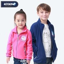 Новинка 2019, детская флисовая куртка Moomin, осенняя куртка, повседневное флисовое пальто на молнии с синими персонажами, детская одежда