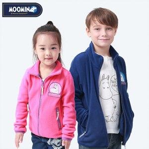 Image 1 - Moomin 2019 Nieuwe Kinderen Fleece Jas Herfst Jas Karakter Blauw Rits Casual Fleece Jas Kids Kleding