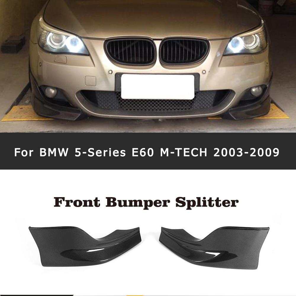 цена на Carbon Fiber Front Bumper Splitter Apron for BMW E60 M Sport Bumper 2006 - 2010 520d 520i 523i 525i 530i