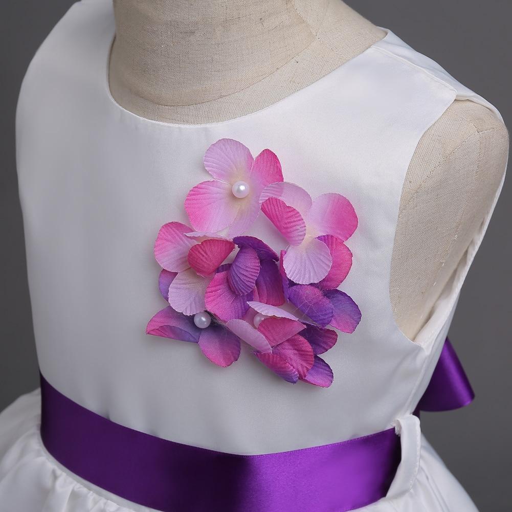 Princesa flor vestido de niña de Verano 2017 fiesta de cumpleaños de ...