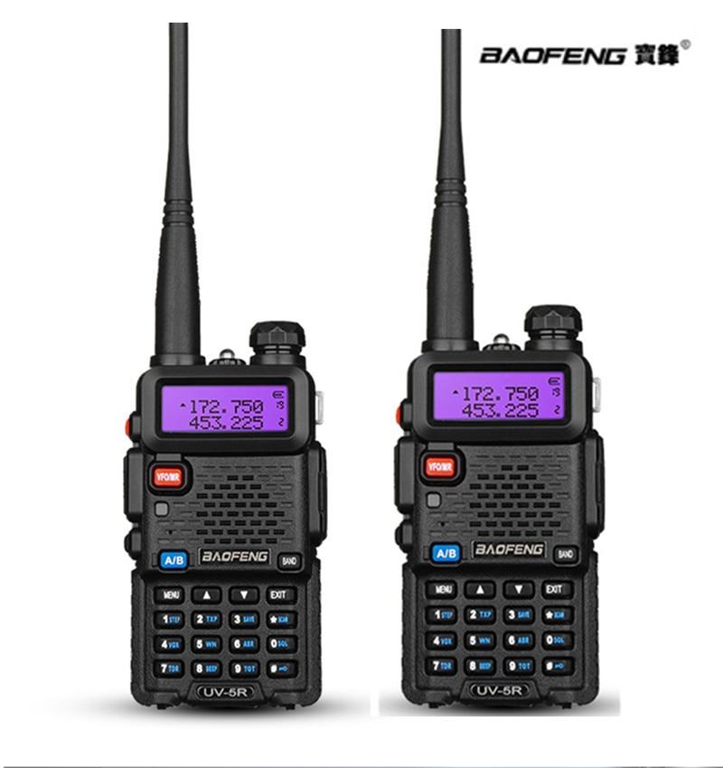 imágenes para 2 unids Baofeng uv-5r CB radio VOX 10Km communicador par de Walkie Talkie de radio de Dos Vías de Baofeng jamón raido uv5r