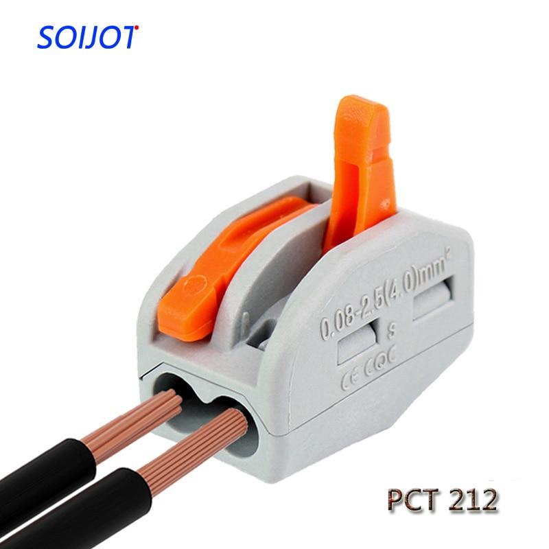 10 Pcs Mini Fast WAGO Connector,222 412(PCT212) Universal