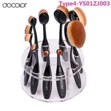 Promotion!10 pcs/5 pcs Tooth Brush Shape Oval Makeup Brush Set MULTIPURPOSE Professional Foundation Powder Brush Kit holder