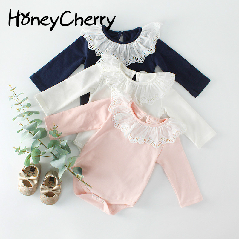 2020 Baby Bodysuit Clothes Climb Cotton Triangular Scalloped Collar Cute And Color Kazakhstan Fart Bodysuit Baby
