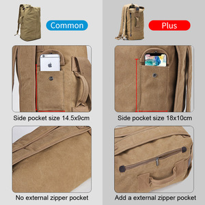Image 2 - Mochila de lona multiusos para hombre, bolso de viaje para montañismo, de hombro grande, plegable para viaje del ejército XA1934
