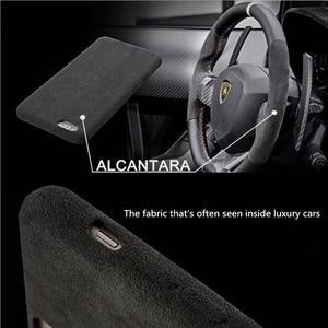 Image 4 - 케이스 아이폰 7 8 플러스 x xs 맥스 xr 럭셔리 이탈리아 스웨이드 패브릭 커버처럼 downy leather capa 프리미엄 쉘 쉘