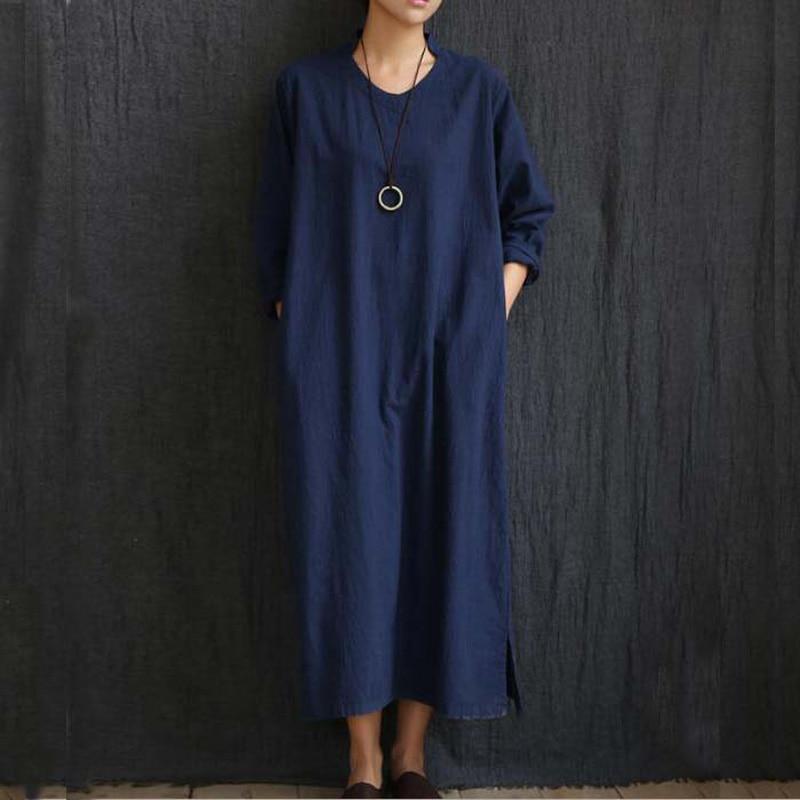 Podzimní dámské šaty 2 barvy pevné bílé tmavé bule V krku s - Dámské oblečení