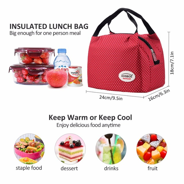 Patterned Insulated Lunch Bag