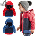 Retail 2-8 years children coats Stitching color fashion full-sleeves trench kids spring autumn fall