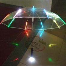 Úchvatný průhlední deštník měnící barvu – svítící