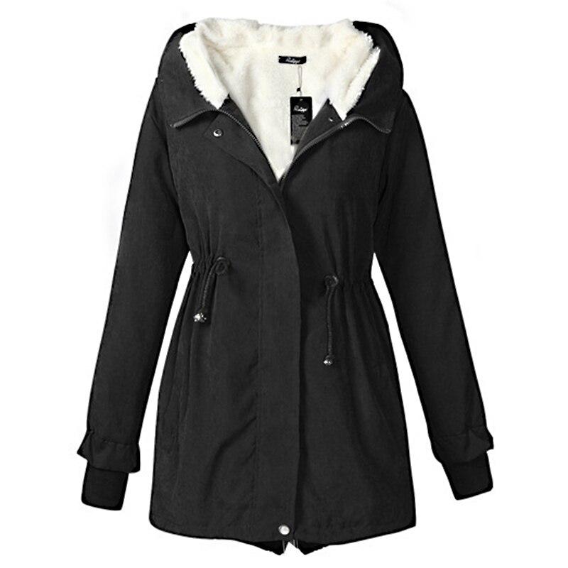 New fur basic jacket women causal warm autumn winter women coat fashion plus size hooded female jacket outerwear 2018 LWT5120