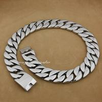 LINSION Huge heavy 316L Stainless Steel Mens Biker Rocker Punk Necklace 5C004N Length 18 to 36 Inches Available