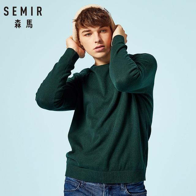 SEMIR Новый брендовый шерстяной свитер для мужчин 2019 Осенняя мода длинный рукав вязаный пуловер мужской кашемировый свитер одежда высокого к...