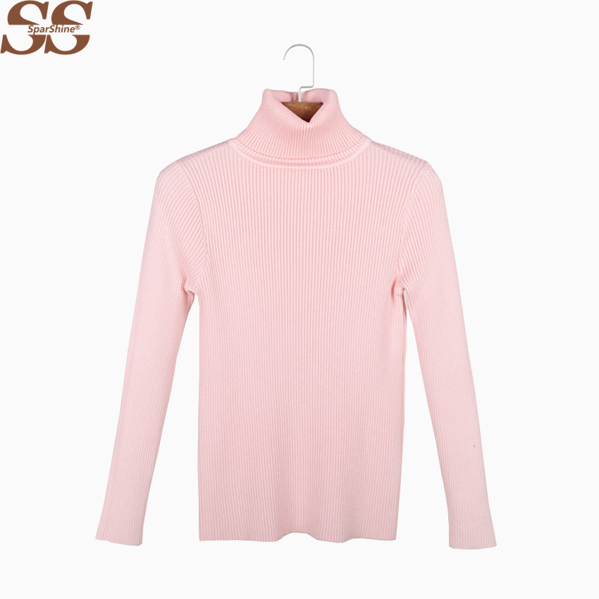 SPARSHINE SS Turtleneck Pollver Sweater 2017 Fashion Women Jumper Pollver Solid Knitted Christmas Pull Femme Sweater New Arrival