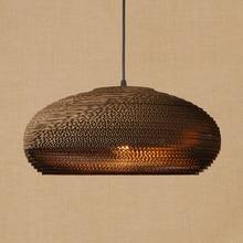 Lámpara LED americana colgante de Origami, lámpara colgante de papel vintage E27, accesorio de iluminación para bar/restaurante y sala de estar