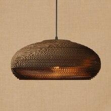 Lampe suspendue en papier Origami américain, vintage, E27, luminaire décoratif dintérieur, idéal pour un salon, un bar ou un restaurant, LED