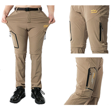 Men's Summer Thin Breathable Quick Dry Pants Outdoor Male Removable Shorts Hiking Camping Trekking Fishing Sport Trousers 6XL