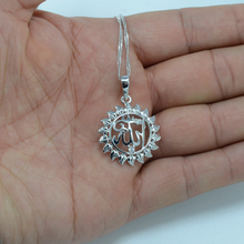 Allahu akbar necklace pendants women silver color allah jewelry zircon arabic necklace islam middle east muhammad chain