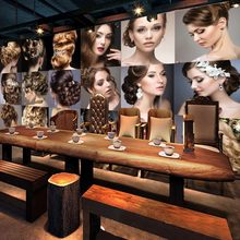 Custom photo wallpaper Personalized fashion beauty salon design background wallpaper mural barber shop decoration(China)